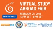 Visit Virtual Study Abroad Fair on February 25 to explore study abroad options and win prizes