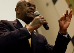 Herman Cain takes the stage