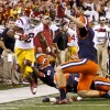 No. 2 USC ekes out a 42-29 victory over the Orange