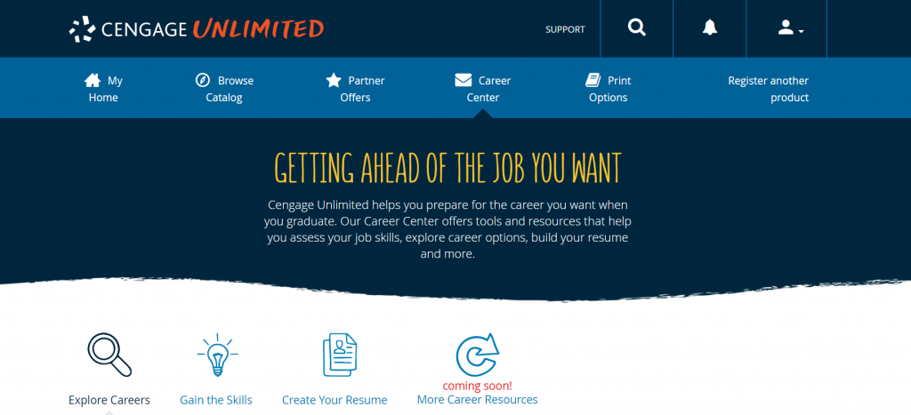 Cengage Unlimited Career Center)