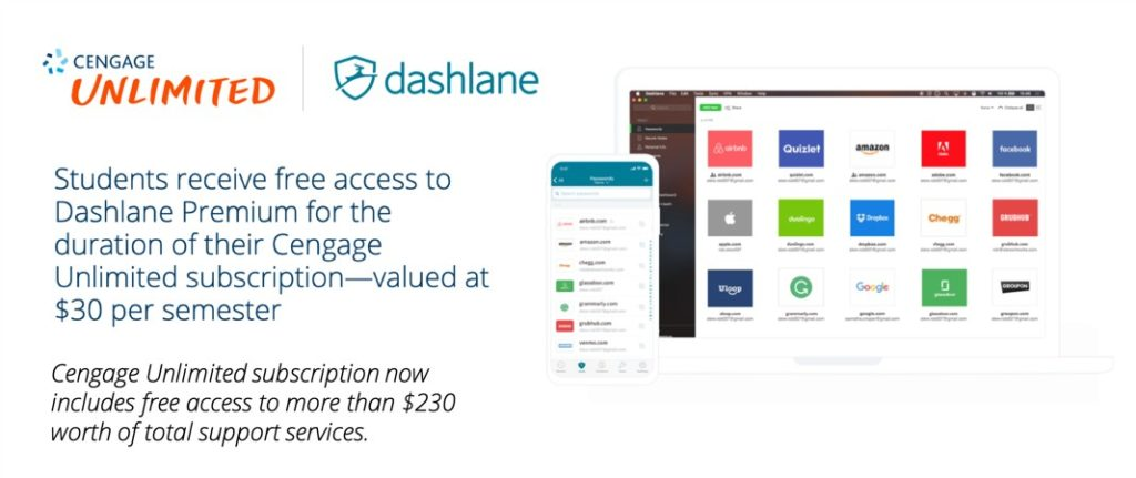 Cengage to Provide Free Dashlane Password Management Protection to